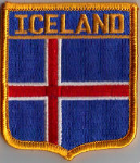 Iceland Embroidered Flag Patch, style 06.